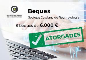 Resolució beques de la Societat Catalana de Reumatologia