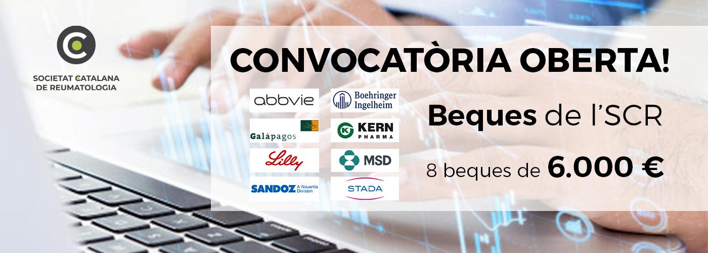 Nova convocatòria de les beques Societat Catalana de Reumatologia