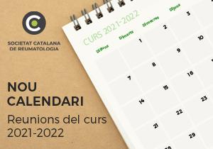 Nou calendari de reunions de la Societat Catalana de Reumatologia pel curs 2021-2022
