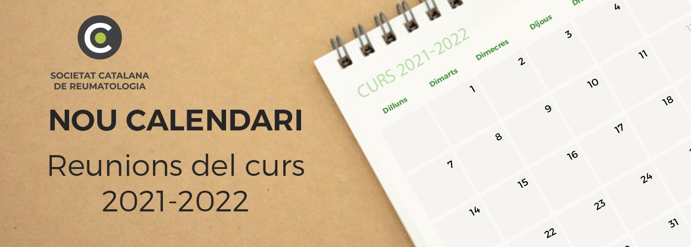 Ja tenim el calendari de les activitats pel curs 2021-2022. Reserva't les dates!